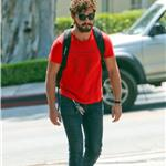 Shia LaBeouf heads to Cafe Med in West Hollywood 91614