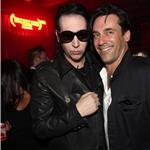 Marilyn Manson and Jon Hamm attend RED's launch celebration  92916