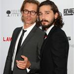 Shia LaBeouf and Guy Pearce at the Hollywood premiere of Lawless  124062