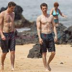 Andrew Garfield Garrett Hedlund bromance in Hawaii  87777