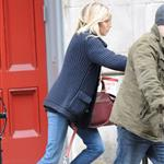 Sienna Miller and Jude Law leave his New York apartment 51516