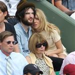Sienna Miller and Tom Sturridge get close in Anna Wintour's box at French open 86807