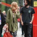 Slightly emotional Sienna Miller and hairy Tom Sturridge after lunch in London 92658