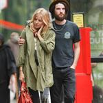 Slightly emotional Sienna Miller and hairy Tom Sturridge after lunch in London 92662