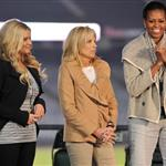 Michelle Obama and Dr Jill Biden with Jessica Simpson honour military families in Denver 83218