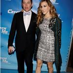 Sarah Jessica Parker and Matthew Broderick take son James Wilkie to the Broadway opening of Catch Me If You Can 83021