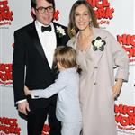 Matthew Broderick, Sarah Jessica Parker and James Wilke Broderick at the Broadway opening night of Nice Work If You Can Get It  112307
