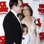 Matthew Broderick, Sarah Jessica Parker and James Wilke Broderick at the Broadway opening night of Nice Work If You Can Get It  112311