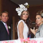 Sarah Jessica Parker at Melbourne Cup Carnival with Elizabeth Hurley and Shane Warne  97645