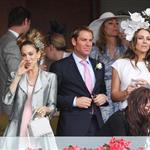 Sarah Jessica Parker at Melbourne Cup Carnival with Elizabeth Hurley and Shane Warne  97648