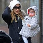 Sarah Jessica Parker takes twins Marion and Tabitha to walk James Wilkie to school  76583