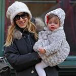 Sarah Jessica Parker takes twins Marion and Tabitha to walk James Wilkie to school  76586