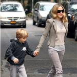 Sarah Jessica Parker takes son James Wilkie to school after the Empire State Pride event the night before  70927
