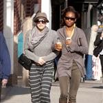 Katharine McPhee and Jenny Laroche arrive to shoot Smash in NYC 108750