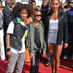 Jada Pinkett Smith with Jaden and Willow at BET Awards 2010  64122