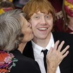 Maggie Smith kisses Rupert Grint on red carpet in London at Harry Potter and the Half Blood Prince premiere 42557