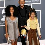 Will Smith Jada Pinkett Smith Willow Smith at Grammy Awards 2011 78945
