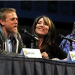 Charlie Hunnam, Katey Sagal, Ron Perlman at Sons of Anarchy panel at Comic-Con 90753