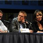 Kurt Sutter, Charlie Hunnam, Katey Sagal at Sons of Anarchy panel at Comic-Con 90760
