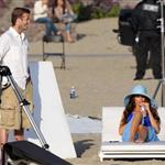 David Beckham shoots Pepsi ad on the beach with Sofia Vergara  82217
