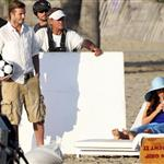 David Beckham shoots Pepsi ad on the beach with Sofia Vergara  82220