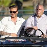 David Beckham shoots Pepsi ad on the beach with Sofia Vergara  82223