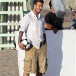 David Beckham shoots Pepsi ad on the beach with Sofia Vergara  82226