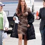 Sofia Vergara and son Manolo and Julie Bowen on the set of Modern Family  81665