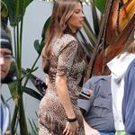 Sofia Vergara and son Manolo and Julie Bowen on the set of Modern Family  81671