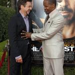 Robert Downey Jr and Jamie Foxx at The Soloist premiere in LA 37216