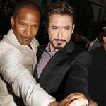 Robert Downey Jr and Jamie Foxx at The Soloist premiere in LA 37198