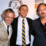 Theo Rossi, Charlie Hunnam, Tommy Flanagan at Season 4 premiere of Sons of Anarchy  93000