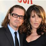 Kurt Sutter Katy Sagal at the Season 4 premiere of Sons of Anarchy  93008