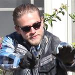 Charlie Hunnam and guest star Ashley Tisdale shoot Sons Of Anarchy Season 5  118569