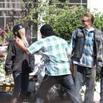 Charlie Hunnam and guest star Ashley Tisdale shoot Sons Of Anarchy Season 5  118576