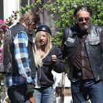 Charlie Hunnam and guest star Ashley Tisdale shoot Sons Of Anarchy Season 5  118579