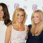 Melanie Brown, Melanie Chisholm, Geri Halliwell, Emma Bunton and Victoria Beckham pose at the press launch of Viva Forever at the St Pancras Renaissance Hotel 118583