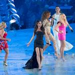 The Spice Girls perform during the Closing Ceremony of the London 2012 Olympic Games 123096
