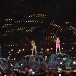 The Spice Girls perform during the Closing Ceremony of the London 2012 Olympic Games 123099