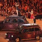 The Spice Girls perform during the Closing Ceremony of the London 2012 Olympic Games 123101