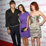 Ashton Kutcher, Demi Moore, and Rumer Willis at the Spread screening 44026
