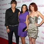 Ashton Kutcher, Demi Moore, and Rumer Willis at the Spread screening 44028