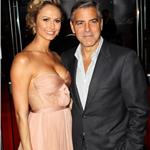 George Clooney and Stacy Keibler at London premiere of The Descendants  96694