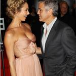 George Clooney and Stacy Keibler at London premiere of The Descendants  96698