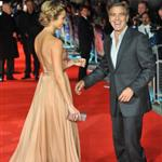 George Clooney and Stacy Keibler at London premiere of The Descendants  96700