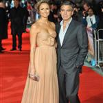 George Clooney and Stacy Keibler at London premiere of The Descendants  96702