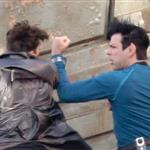 Benedict Cumberbatch fights Zachary Quinto in Star Trek first set shots 107676