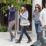 Kristen Stewart with Nikki Reed, Paris Latsis, and Elizabeth Reaser in Vancouver 46370