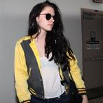 Kristen Stewart arrives at LAX in advance of hand and footprint ceremony 97622