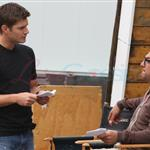 Jensen Ackles directs Jared Padalecki on Episode 1 of Season 7 Supernatural 89910